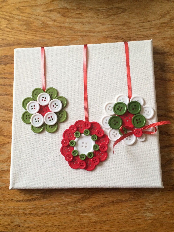 Christmas ornaments button art