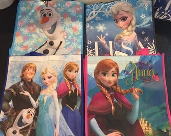 Frozen Party Bags, Elsa, Anna, Olaf, Kristoff Characters, Party Bag, Kids Birthday, Set of 5 - Your Choice from 4 Different Styles / Bags
