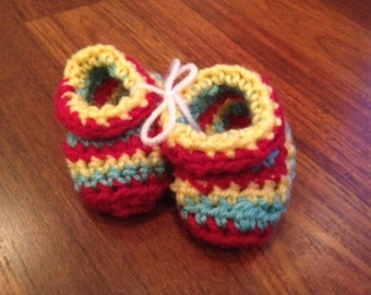 Warm and comfy baby booties