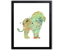 Lion Art Print - Watercolor Animal
