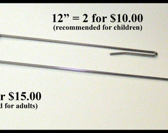"""SET of two (2) 12"""" arm-rods for hand puppets"""