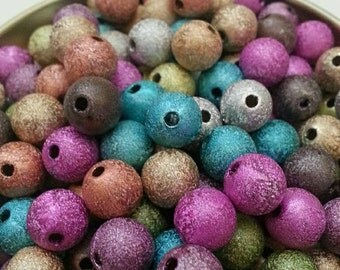 8mm Mixed Stardust Beads