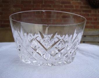 Vintage Cut Glass Small Bowl