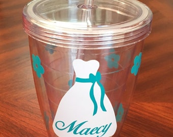 Flower Girl Personalized Tumbler