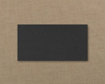 Black Place Cards Plain Blank (Set of 50) Wedding Party Supplies