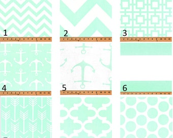 Mint Window Valances-Window Treatments-You Choose Your Size and Pattern