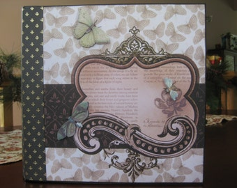 Butterfly-Themed Chipboard Mini Album