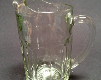 Vintage Heavy Clear Pitcher