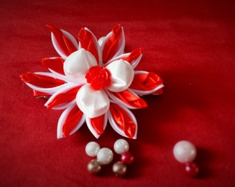 Kanzashi hair barrette