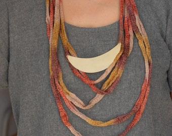 Bronze and Fiber Necklace