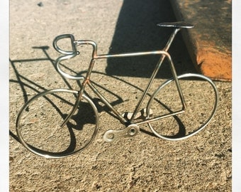 Stainless Steel Road Bicycle Ornament