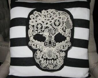 SKULL Throw Pillow, Designer Style.