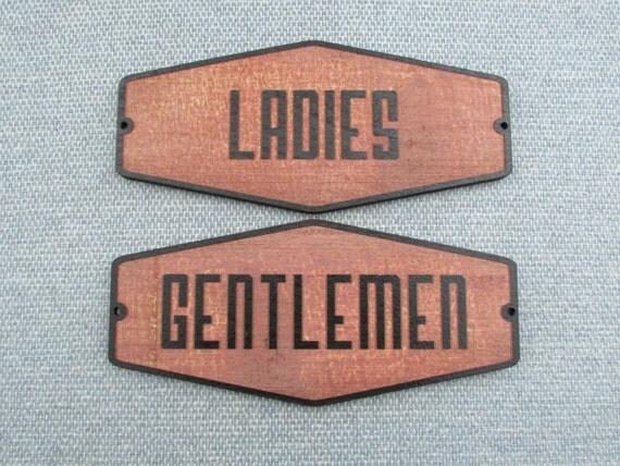 Retro Style Rustic Ladies Gentlemen Restroom Set By Motorheadart