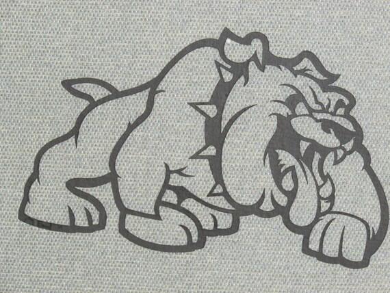 Bulldog Silhouette Bulldog Cutout Silhouette Wall