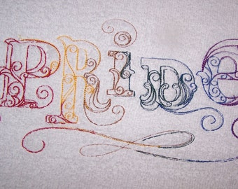 Personalised embroidered bath towel with Gay Pride (100% cotton)