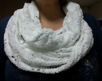 scarf white soft