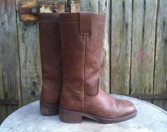 Boots Vintage/ 90s/ Original CIAK/ Western Boots/ Real Leather/ number 40/ UK 6.5/ US 9
