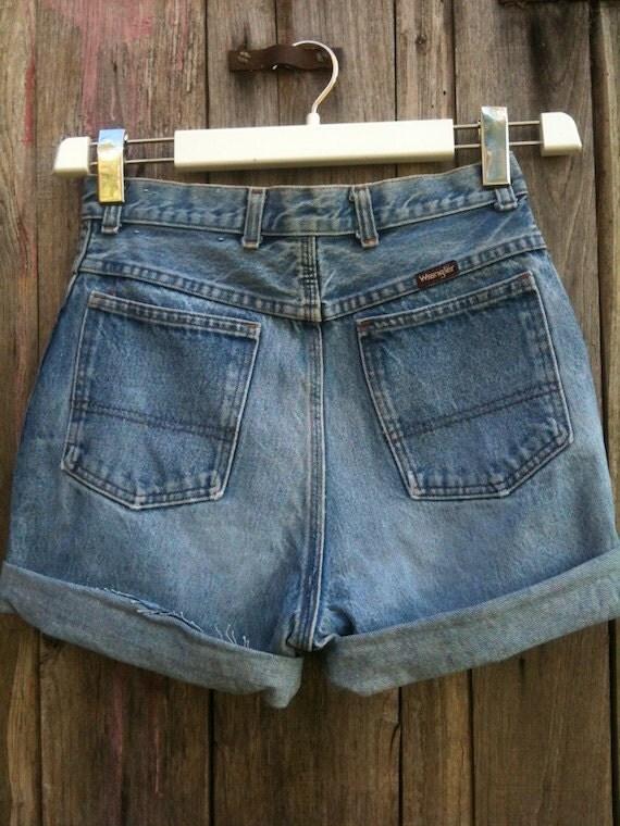 shorts jeans vintage original wrangler 90s by beholdvintage. Black Bedroom Furniture Sets. Home Design Ideas