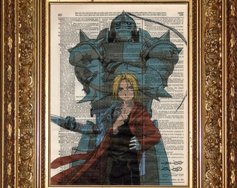 Edward and Alphonse (Full Metal Alchemist) Print