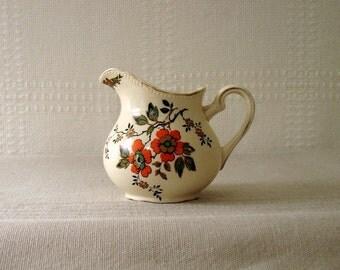 Wedgwood Cream Pitcher, Flowered Pattern