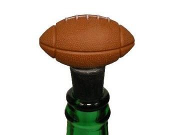 Wine Stopper Football Wine Bottle Stopper, Handmade and Upcycled