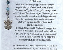 Choose Your Colors! Inspirational Crystal Angel Charm, Pendant, Jewelry Accent - Unique Handmade Gift Idea!