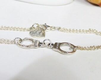 """Bracelets For Men , Woman Sideways Handcuff """"Freedom"""" , Silver Hand Cuff Bracelet, Handcuff Bracelet,  Sideways Hand Cuff Bracelet"""