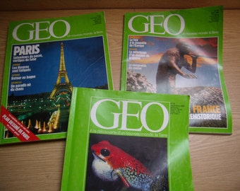 magazines GEO, reviewed French, geography, travel, 1982-1994 (total 98 parts)