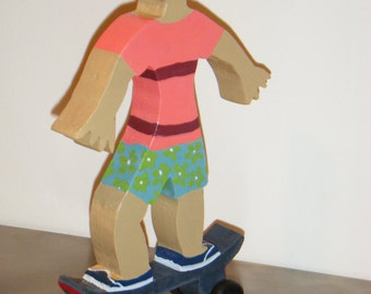 Skateboarder, Beach Boy, Skateboard. Skateboard Art, Skateboard keepsake, Human Figure