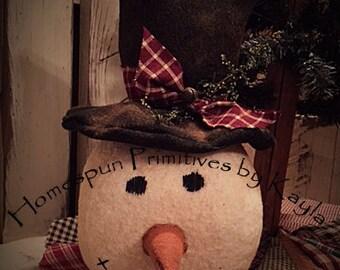 Primitive Frosty Snowman Head