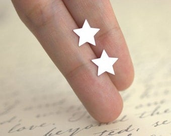 Star Stud Earrings, 100% sterling silver, Tiny Star Studs, Silver Star, Christmas gift, gifts under 20