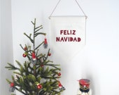 FELIZ NAVIDAD - Christmas Wall Banner (customizable!)