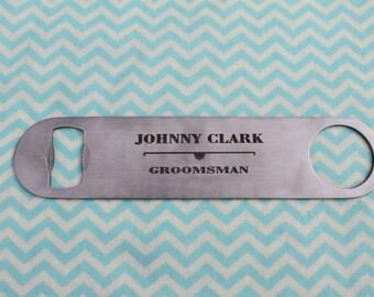 Custom Groomsman Bottle Opener Gift
