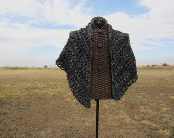 Charcoal Shawl / Wrap / Throw
