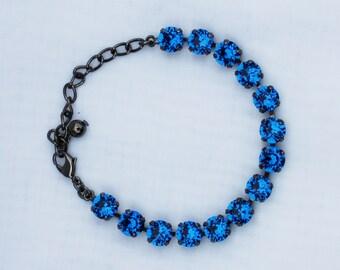 Capri Blue 8mm Swarovski Crystal Bracelet