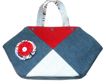 Jeans bag, shopping bag, shopper