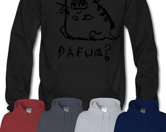 Dafuq Cat Hoodie Meme Funny Trolol Troll Rick Keyboard