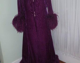 Stunning Purple Velvet Mr. Blackwell Evening Ensemble