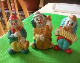 Three clown & Ceramic Figurine