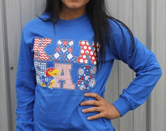 University of Kansas Royal Blue Long-Sleeved T-Shirt