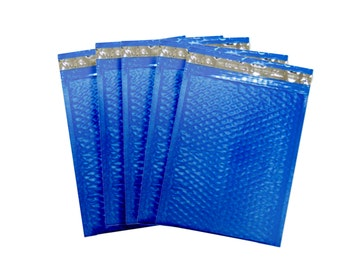 15 6x9 Blue Padded Bubble Mailers With Self Adhesive Strip. Poly Mailers. Size 0. Padded Envelope. Shipping Supplies. Mailing. Self Sealing