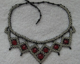 Beaded Medieval Choker Tutorial- Reversible Embellishment, Adjustable length