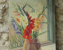 Fantastic LARGE!, signed French oil painting