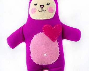 Sophie the purple plush toy for baby girl.
