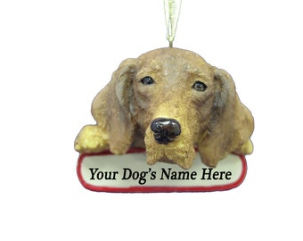 Vizsla Ornament With Personalized Name Plate A Great Gift For Vizsla Lovers