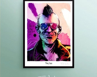 Travis Bickle - Taxi Driver poster, by Fred Jourdain
