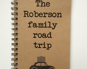 Road Trip, Notebook, Car Trip, Travel notebook, Vacation, Personalized, Journal, adventure, Sketchbook, Family Road Trip, Blank, Lined