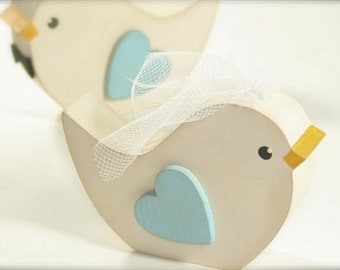 Wedding Cake Topper Love Birds Rustic Wedding Woodland Wedding Bird
