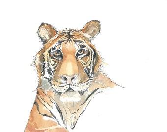 Tiger Original Watercolour Animal Painting