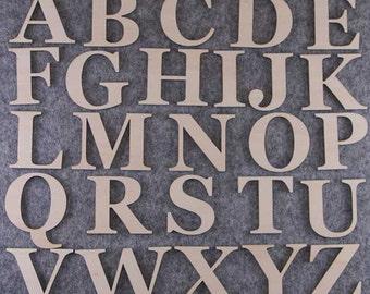 Georgia Font Alphabet Set 3mm Plywood Capitals Letters A-Z 26 Characters